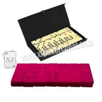 Buy cheap Plastic Invisible Playing Cards 28Pic Dominoes With Invisible Ink Markings product