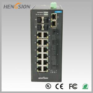 Buy cheap Fast 28 Port Switch , Fanless Gigabit Switch 14 electric port + 4 FX +4 Gigabit SFP FX Fiber optical from wholesalers