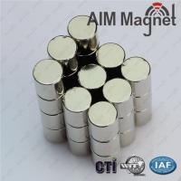 Buy cheap cylinder neodymium magnets N35,N42,N52 10mmx20mm product