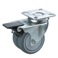 Buy cheap twin wheels caster with brake product