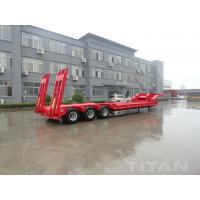 China 3 axles low loader semi trailer with fuwa axle  carry construction equipment for sale on sale