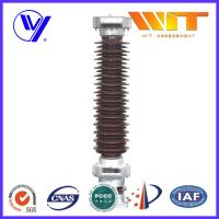 Buy cheap 102KV 10KA Porcelain Lightning Arrester in Substation MOA Type Brown Color from Wholesalers