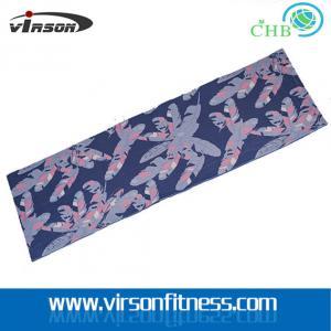 4mm thickness silkscreen printing anti-slip PVC yoga mat