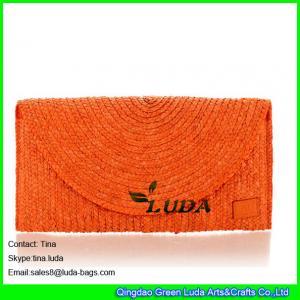 China LUDA designer handbags on sale fashion wheat straw clutch handbags on sale