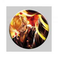 Buy cheap Flip Badge One Piece 3D Lenticular Pin With Luffy Zoro Anime from wholesalers