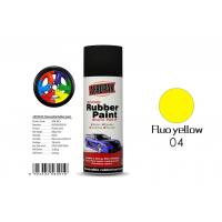 Quality Fluo Yellow Color Spray Paint Remover 12pcs / Ctn For Car Coating for sale