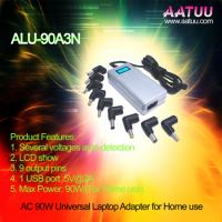 Buy cheap 90W Universal Notebook AC Adapter with LCD Show, 9 Output Pins -ALU-90A3N product