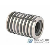 Buy cheap N42 zinc plated rare earth magnet ring arc segment neo speaker neodymium ring magnet, product