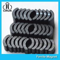 Buy cheap Powerful Ceramic Ferrite Arc Magnet , Sintered Permanent Magnets Customized product