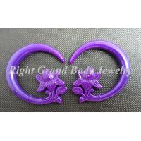 Buy cheap Resin Spiral Ear Tapers , Purple Ear Stretcher Spiral Taper Plug Gauges product