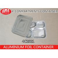 China 4C2521 Aluminium Foil Products 4 Compartment Foods Packing Container 850ml Volume on sale