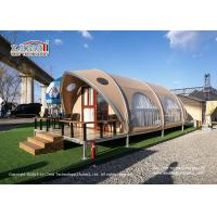 China Aluminum Frame Outdoor Luxury Glamping Tents 4x12m For 2-4 People on sale