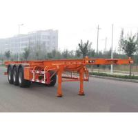 Buy cheap Flat-bed Semi Trailer Truck 3 Axles 50Tons 13m for Container Loading product
