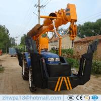 Buy cheap Best price Post Hole Digger and Pole Crane Tractor Mounted Crane product