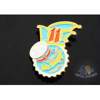 Buy cheap Full Color Enamel Custom And Stock Metal Lapel Pin Badges Gift Items Imitation Gold Plating product