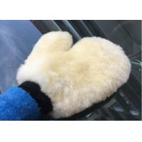 China Sheepskin Car Wash Mitt Pure Merino Wool Cream White Sheepskin Car Wash Mitt on sale