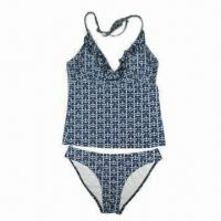 Buy cheap Fashionable Ladies' Underwear Set with Frill on Neckline and Adjustable Ties product