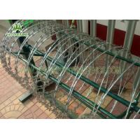 China Silver Concertina Razor Wire Wire φ 1000mm For High Security Chain Link Fence  on sale