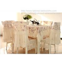 China Pastoral rosette lace tablecloth and chair cover, vintage floral lace table cloths, on sale