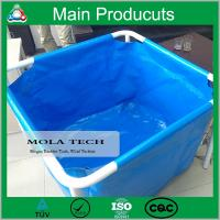 Buy cheap Hot Sale Customized 250L - 5000L Flexible Collapsible PVC Steel Frame Fish Farm Tank product
