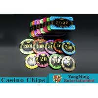 Difficult To Distort Authentic Casino Poker Chips , Crystal Dice Poker Chips