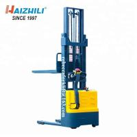 China Eco-Friendly 1000kg 3000mm iron shell pedestrian electric forklift stacker with factory price on sale
