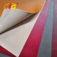 Buy cheap 2018 Soft Feeling Holes Pvc Artificial Leather High Tear Fastness For Car Seat Cover from wholesalers
