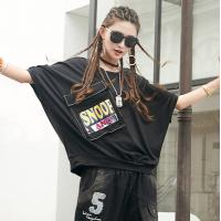 Buy cheap Women's Fashion New Latest Hip Hop Design High Streetwear Short Sleeve T Shirt with Printed product