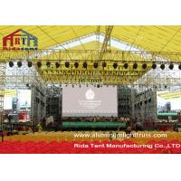 Buy cheap Heavy Duty Aluminum Light Truss Sqaure Shape 6-10m Pillar Height Hanging Stage Lighting product