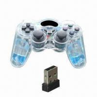 Buy cheap PC USB Game Controller, Wireless Transparent Joystick with Water Inside and Nice Effect in PC Game product