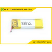 China 3.7V 60mah Rechargeable Lithium Polymer Battery For Electronics Products on sale