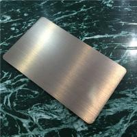 Buy cheap Light Weight Brushed Aluminum Composite Panel For Building Decoration 1220mm Width product