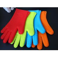 China Heat Resistant Silicone BBQ Grill Oven Gloves, Silicone BBQ Grill Oven Mitt on sale