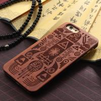 Buy cheap Real Solid Wood Grain iPhone 7 Case with Hard Crafted PC Material product