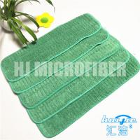 China Green Color  Microfiber Mop Refill Pads Coral Fleece With Hard Silk Floor Wet Mop Heads on sale