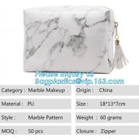 China Custom Tyvek Paper Zipper Cosmetic Makeup Bag With Leather Handle,untearable tyvek zipper cosmetic bag,Environmentally f on sale