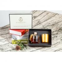 Buy cheap Round Shape Luxury Scented Candle Diffuser Gift Set / Reed Diffuser And Candle Set product