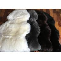 Buy cheap Long Wool Cream Fur Throw Blanket , Single Pelt Black And White Throw Blanket 60 X 90cm product