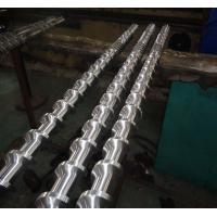 Buy cheap Reliable Bimetallic Screw  Extruder Screw Recycled PP With 15% Glassfiber product