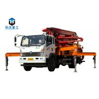 Buy cheap 13.58 Weight Truck Mounted Boom Pump / Concrete Boom Pump Truck 66 KW Diesel Power product