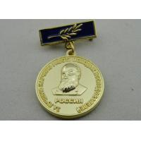 3D Iron or Brass / Copper Custom Awards Medals with Die Casting, High 3D and High Polishing