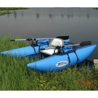 Buy cheap Kids Fireproof Inflatable Boat With Motor , Blue 4 Person Inflatable Boat product