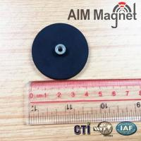 Buy cheap n42 round rubber coating pot magnet block magnets product