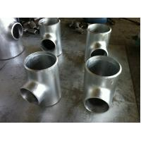 Buy cheap 9.53mm Wall Thickness galvanized reducing tee , threeway steel pipe connector product
