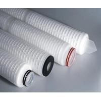 Buy cheap 0.1um 10'' 20'' Pleated Filter Cartridge Hydrophobic PTFE Membrane from wholesalers