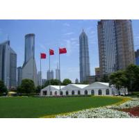 Quality Customized Clear Span Tents for wedding events with linning and curtain for sale