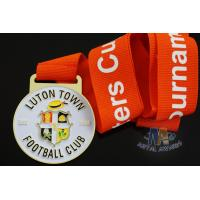 Buy cheap Custom Metal Zinc Alloy Football Medals Soft Enamel with Europe Printing Ribbon product