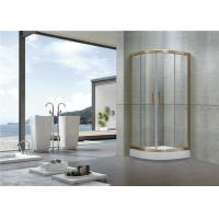 China Rose Gold D Shaped Shower Enclosure Curved Glass Full Aluminum Alloy CE Certification on sale