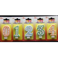 Best-selling Number Candle unique Colorful polka dot number birthday candle With Multi-color edge