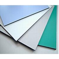 Buy cheap 3003 Series Dupont Polymer Adhesive Silver Color 5mm Aluminum Exterior Commercial Building Wall Panels product